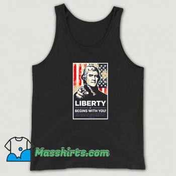Thomas Jefferson Liberty Begins With You Tank Top