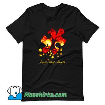 Vintage Accept Adapt Advocate Autism T Shirt Design