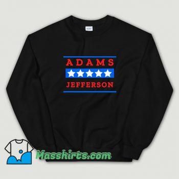 Vintage American History Buff Adams Jefferson Sweatshirt