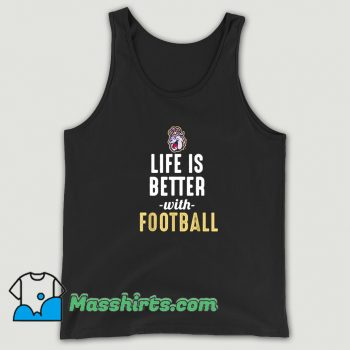 Vintage James Madison Dukes Life Is Better With Football Tank Top