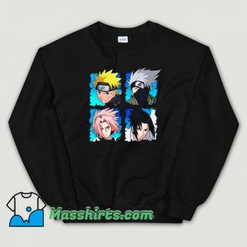 Vintage Naruto Shippuden 4 Heads Sweatshirt