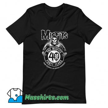 Vintage The Misfits Forty Years Anniversary T Shirt Design