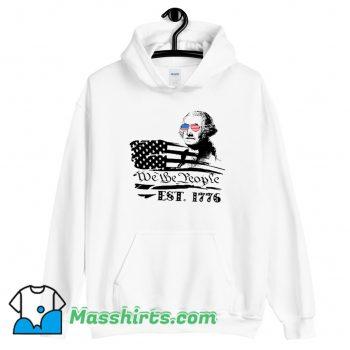 We The People George American Flag Hoodie Streetwear