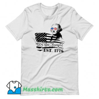 We The People George American Flag T Shirt Design