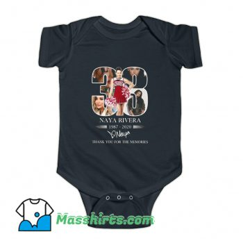 33 Naya Rivera Thank You For The Memories Baby Onesie