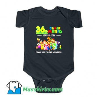 36 Th Super Mario Bros 1985 2021 Baby Onesie