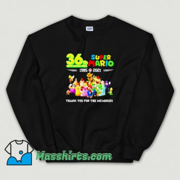 36 Th Super Mario Bros 1985 2021 Sweatshirt On Sale