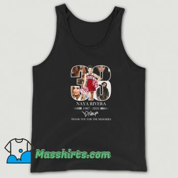 Awesome 33 Naya Rivera Thank You For The Memories Tank Top