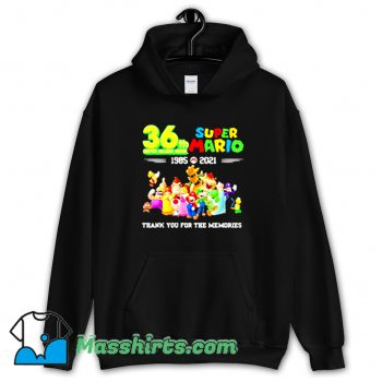 Awesome 36 Th Super Mario Bros 1985 2021 Hoodie Streetwear