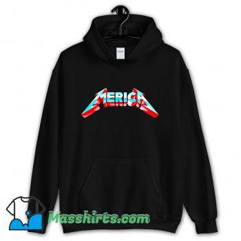 Awesome Metal Merica Rocks July 4Th Hoodie Streetwear