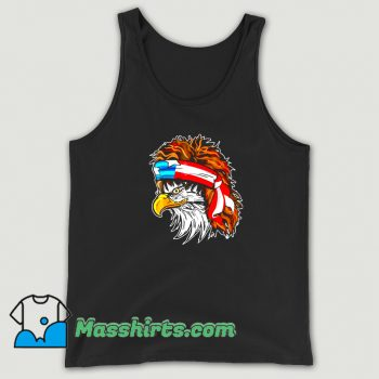 Awesome Rocker Hair Eagle American Flag 80s Tank Top