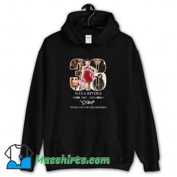 Best 33 Naya Rivera Thank You For The Memories Hoodie Streetwear
