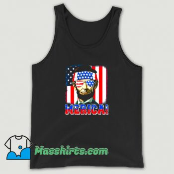 Best Merica Abe Lincoln 4Th Of July Tank Top