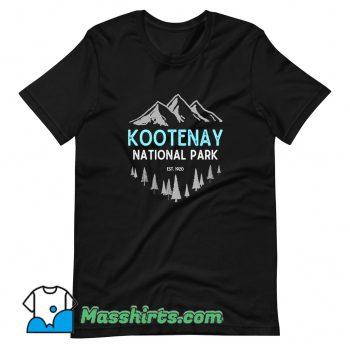 Best Mountains Kootenay National Park T Shirt Design