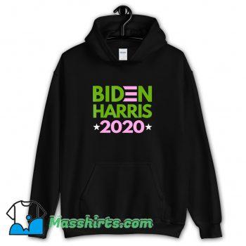 Biden Harris 2020 Pink Green Democrat Liberal Funny Hoodie Streetwear