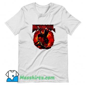 Cartoon Marvel Deadpool Epic Heavy Metal T Shirt Design
