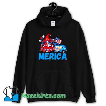 Classic Merica 4Th Of July Patriotic Truck Gnome Hoodie Streetwear