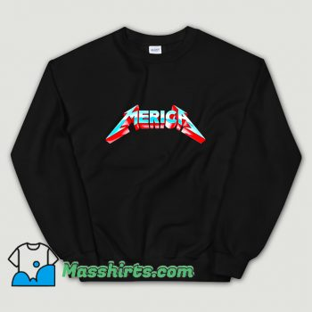 Classic Metal Merica Rocks July 4Th Sweatshirt