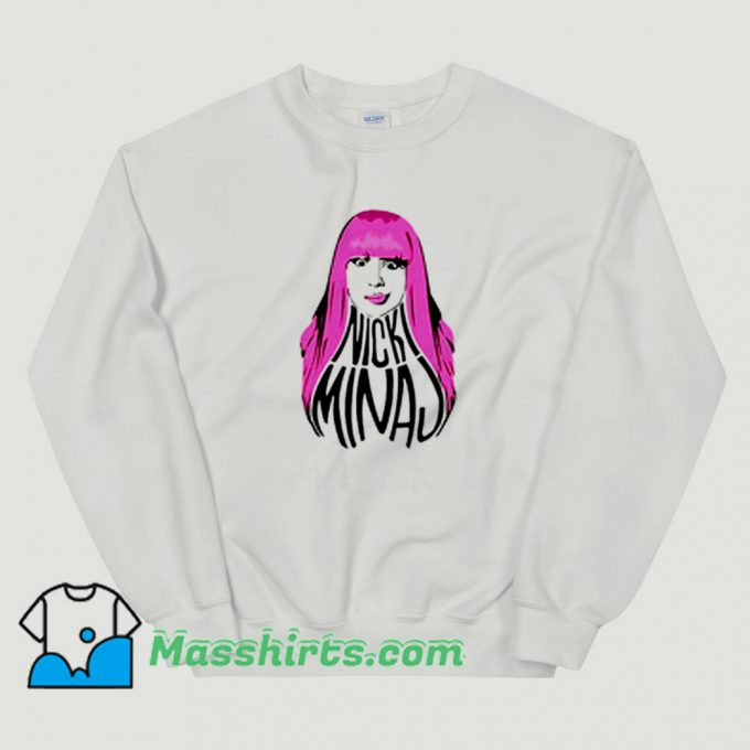 Classic Nicki Minaj Pink Hair Sweatshirt