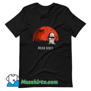 Cool Futurama Drunk Robot T Shirt Design