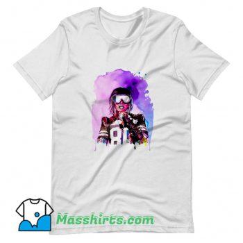Cool Missy Elliott Colorful Art T Shirt Design