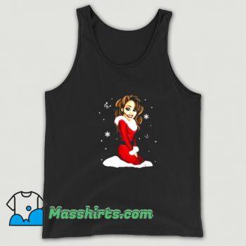 Cute Mariah Carey Merry Christmas Tank Top