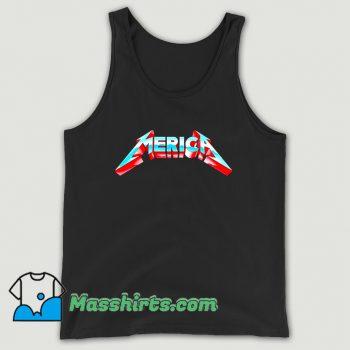 Cute Metal Merica Rocks July 4Th Tank Top
