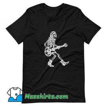 Cute Seembo Skeleton Playing Guitar T Shirt Design