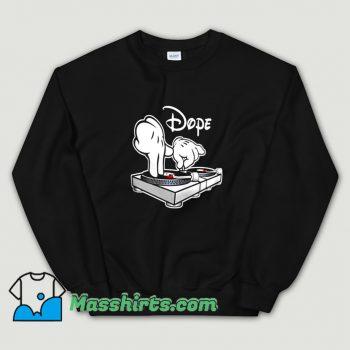 Dope DJ Cartoon Hands Sweatshirt On Sale