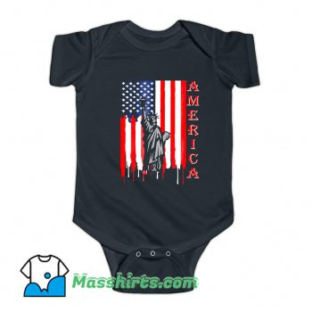 Fourth Of July Statue Of Liberty Baby Onesie On Sale