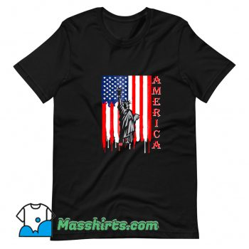 Funny Fourth Of July Statue Of Liberty T Shirt Design