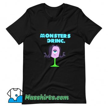 Funny Monsters Celia Drink T Shirt Design
