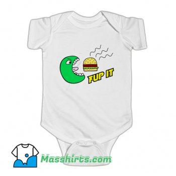 Fup It Cheeseburger Monster Baby Onesie