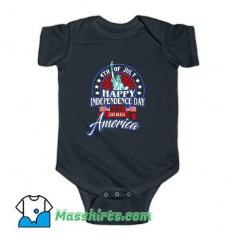 Happy Independence Day God Bless America Baby Onesie