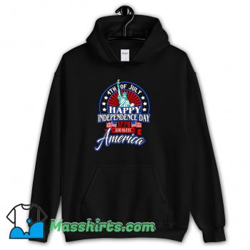 Happy Independence Day God Bless America Hoodie Streetwear