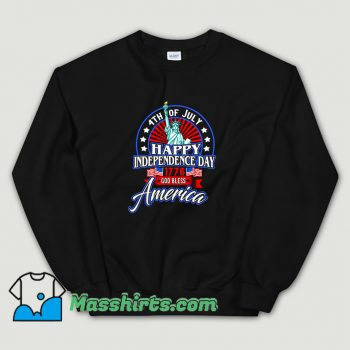 Happy Independence Day God Bless America Sweatshirt
