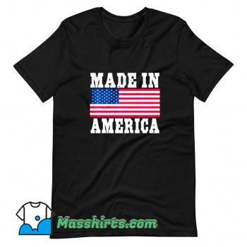 Made In America USA Flag T Shirt Design