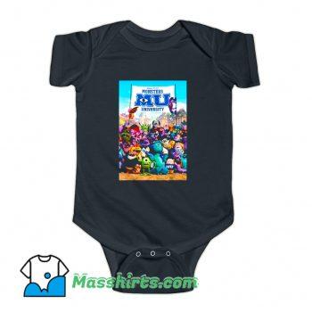 Monsters University Poster Baby Onesie