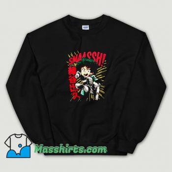 New My Hero Academia Deku Smash Sweatshirt