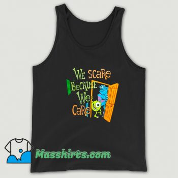New We Scare We Care Monsters University Tank Top
