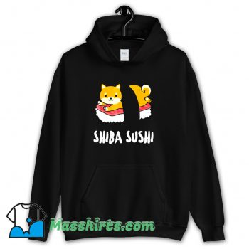 Orginal Cartoon Shiba Sushi Hoodie Streetwear