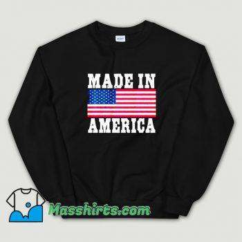Original Made In America USA Flag Sweatshirt