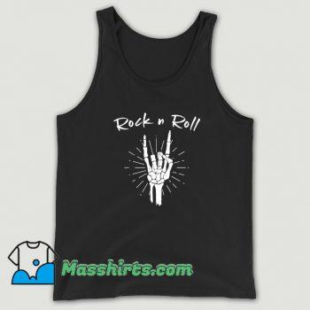 Rock N Roll Skeleton Hand Horns Tank Top On Sale