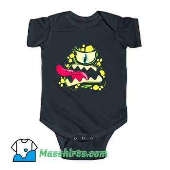 Scary Monster Face Cartoon Baby Onesie