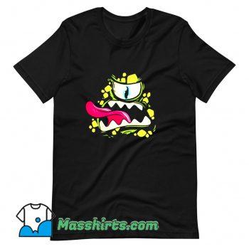 Scary Monster Face Cartoon Halloween Day T Shirt Design