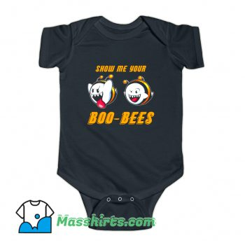 Show Me Your Boo Bees Baby Onesie