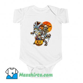 Skeleton Dinosaur Halloween Mummy Pumpkin Baby Onesie