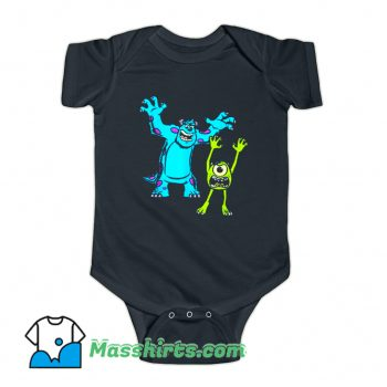 Sulley And Mike Monsters University Baby Onesie
