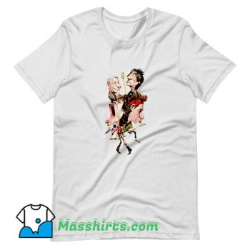 The Rolling Stones Cartoon T Shirt Design