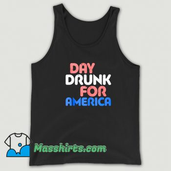 Vintage Day Drunk For America Tank Top